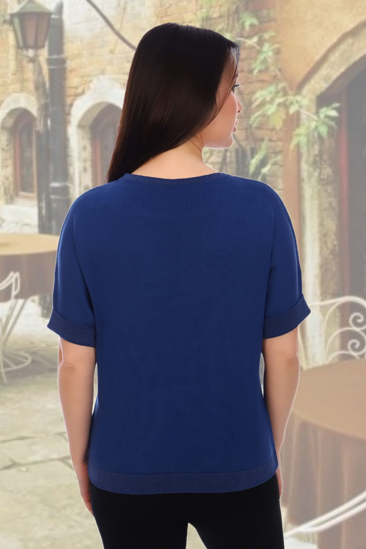 Синий женский джемпер