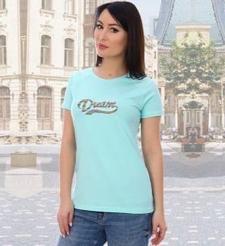 Женская футболка с вышивкой Dream