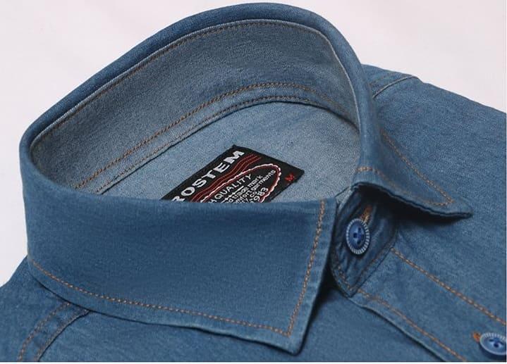 Джинсовая рубашка мужская Brostem LAN-2