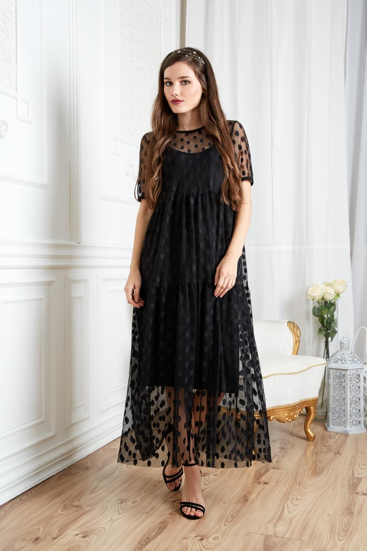манера ное летние платье