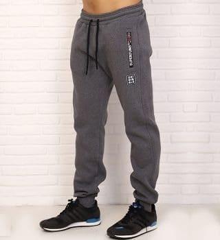 Теплые темно серые штаны с начесом Berchelli