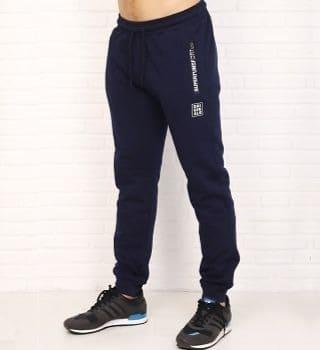 Теплые темно синие штаны с начесом Berchelli
