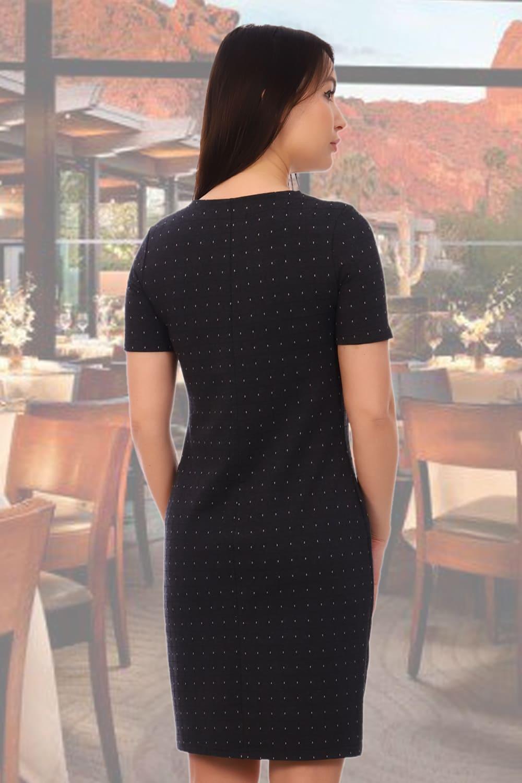 Платье офисное с кратким  рукавом Natali