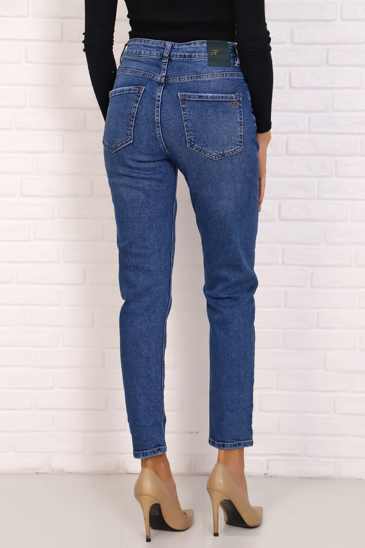 Голубые укороченные джинсы 22102