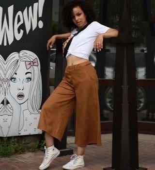 Коричневые брюки кюлоты Natali