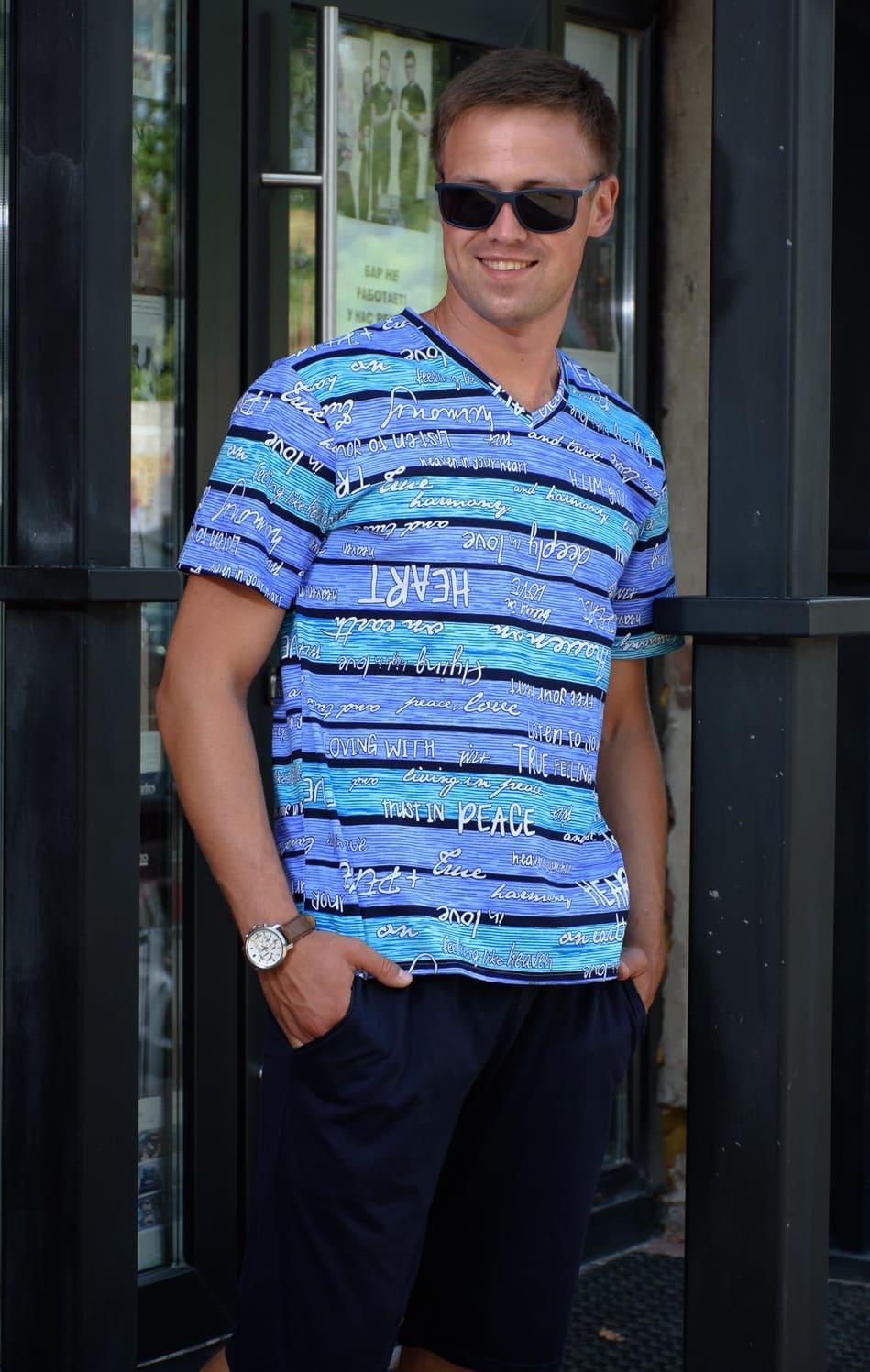 мужская футболка с шортами