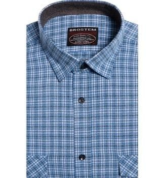 Рубашка в клетку мужская Brostem KA15001