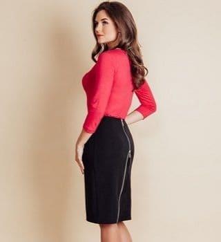 Черная юбка с молнией TopDesign В6 100