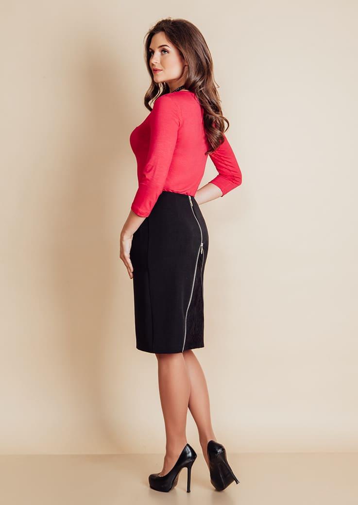 черная модная юбка