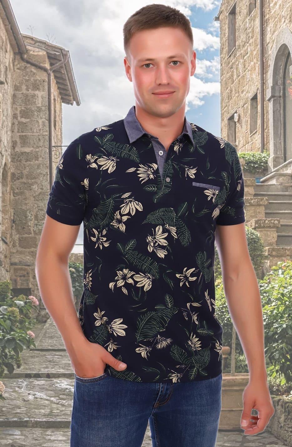 гавайская футболка поло