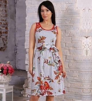 Сарафан женский с поясом