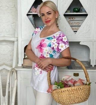 Белая футболка Natali