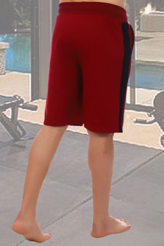 Бордовые шорты мужские Berchelli