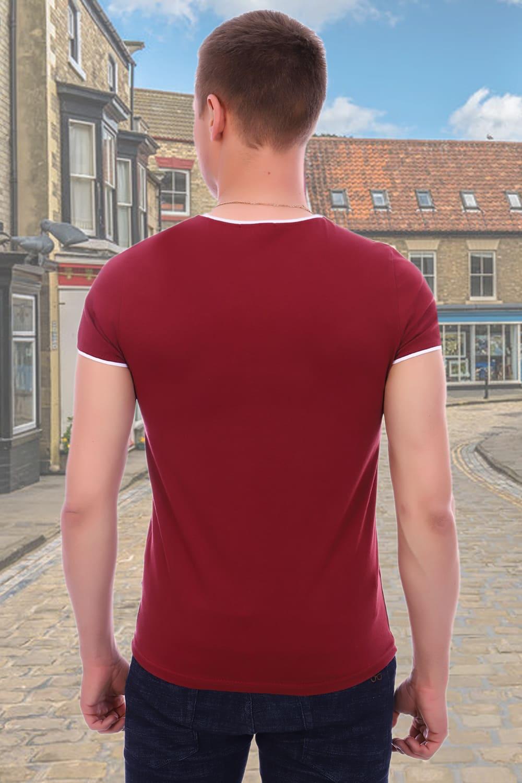 Бордовая футболка мужская Berchelli