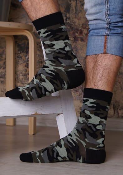 камуфляжные мужские носки