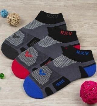 Спортивные универсальные носки в трех расцветках   - 6 пар