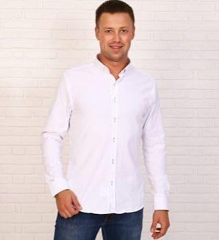 Белая рубашка из поплина Brostem 17535
