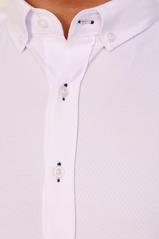 белая рубашка из поплина
