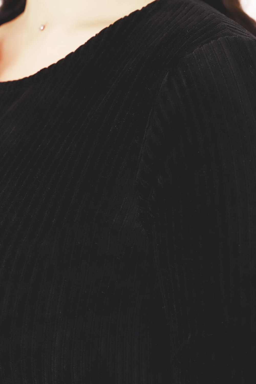 Черное велюровое платье N3678