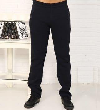 Черные штаны из футера теплые Berchelli 22125