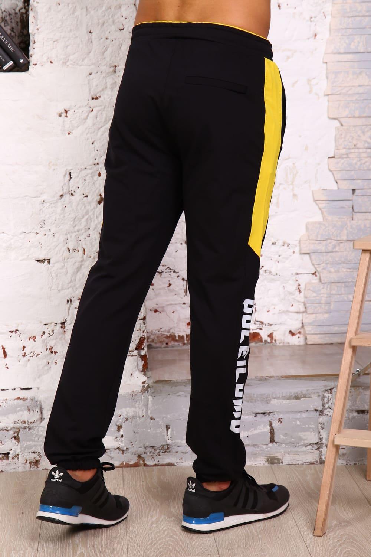Черные штаны с лампасами B26501