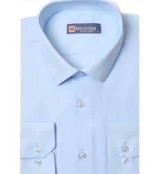 Светло голубая рубашка Brostem W11