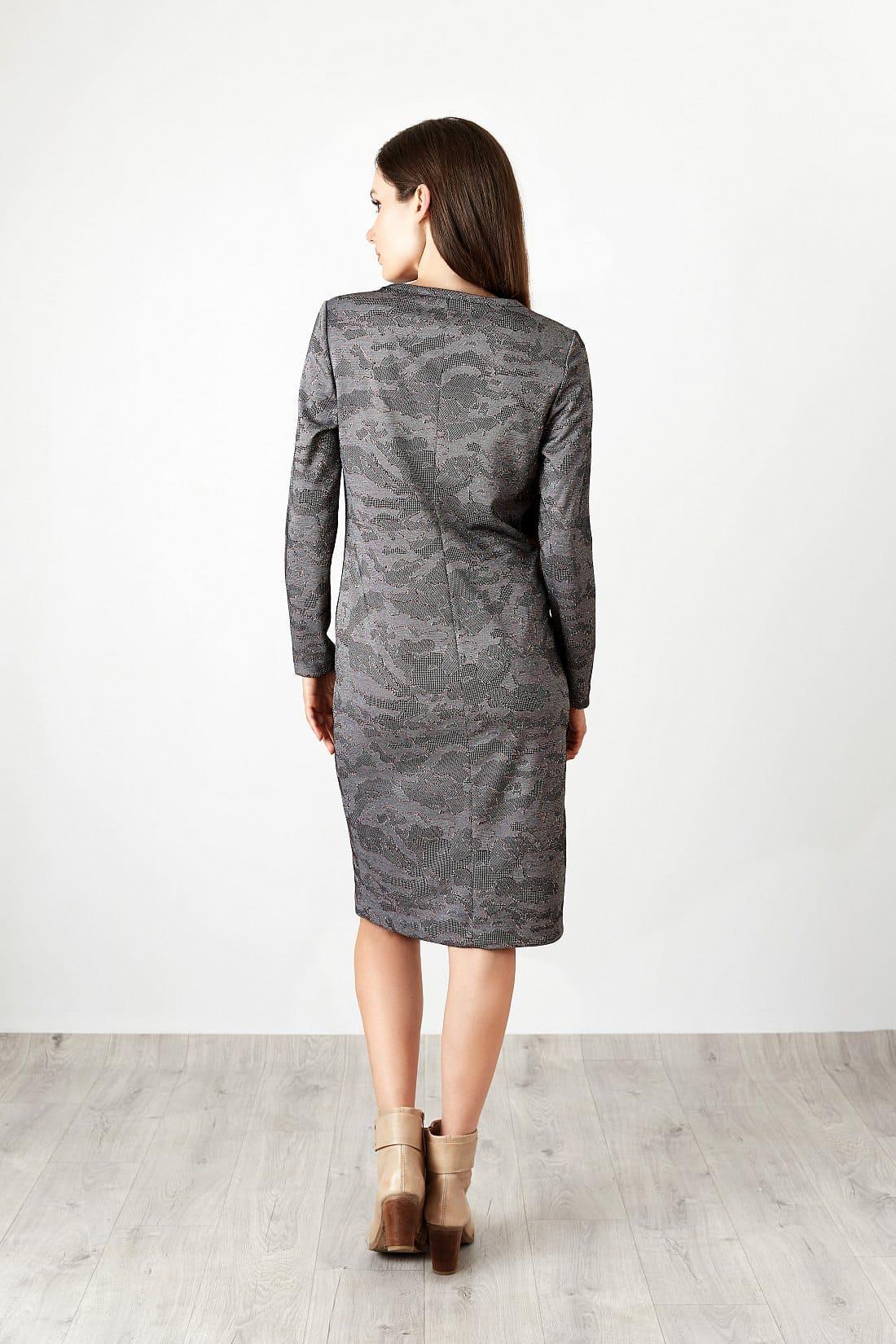 Офисное стильное платье TopDesign B20 021