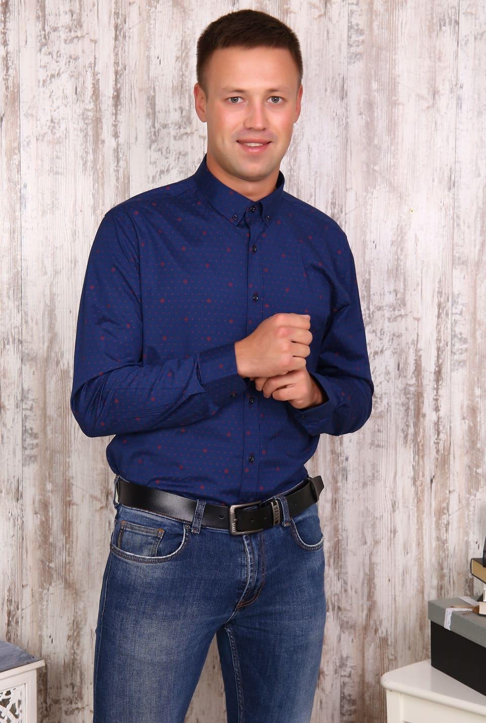 мужская рубашка из поплина