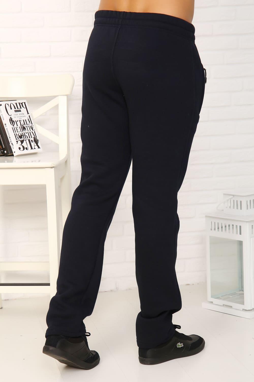 Темно-синие штаны из теплого футера Berchelli 22125