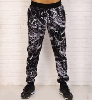 Теплые штаны с рисунком мужские Berchelli 16016