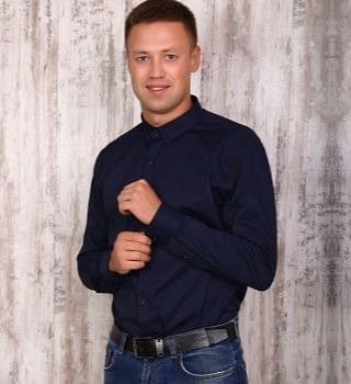 Темно-синяя жаккардовая рубашка Berchelli 17534