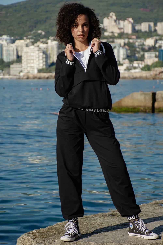 Черный костюм дамский  N6328