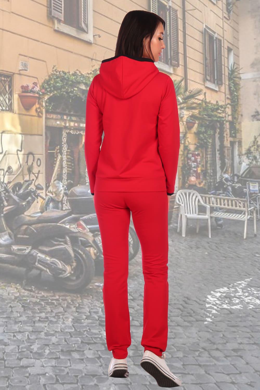 Красный костюм с капюшоном 554