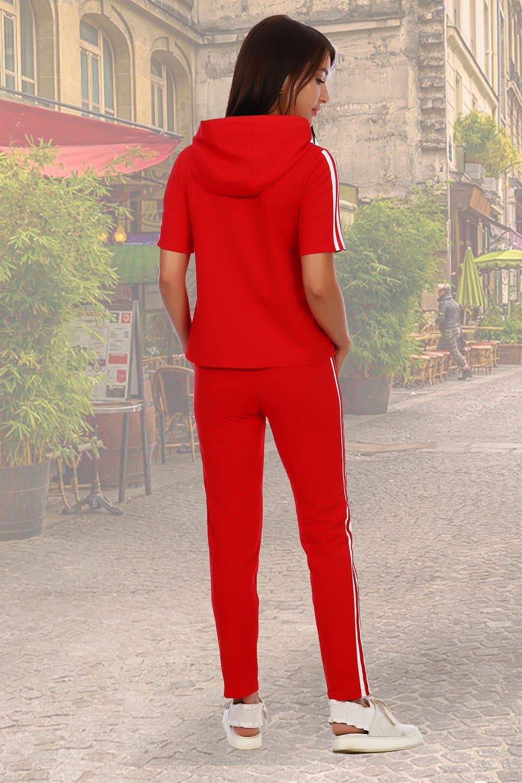Модный спортивный костюм красного цвета N2150