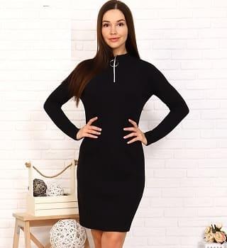 Платье с долгим  рукавом N25110