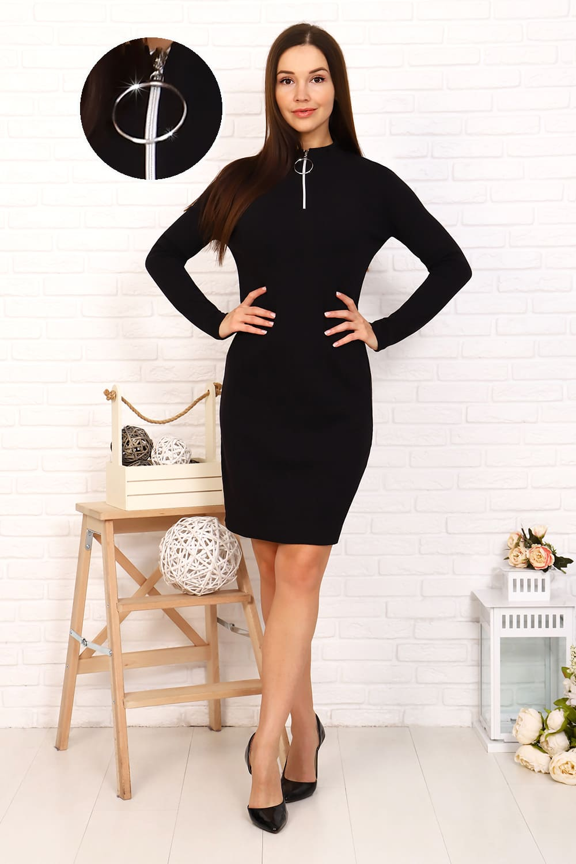 платье с долгим  рукавом