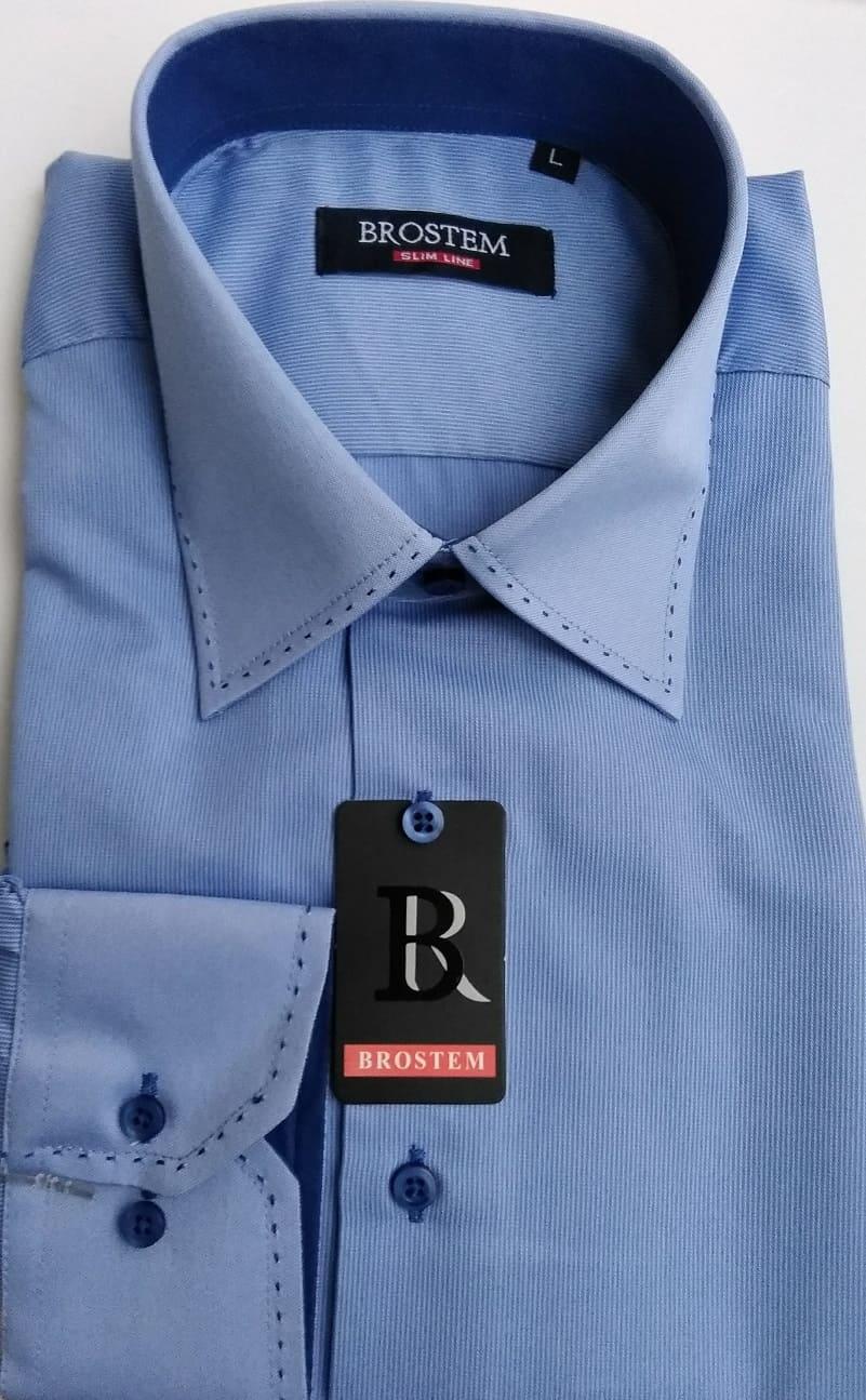 мужская рубашка в малую  полоску