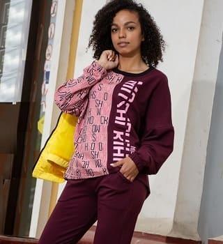 Свитшот с брюками женский N7252
