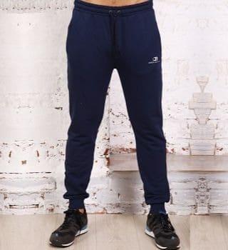Утепленные темно синие брюки B26505