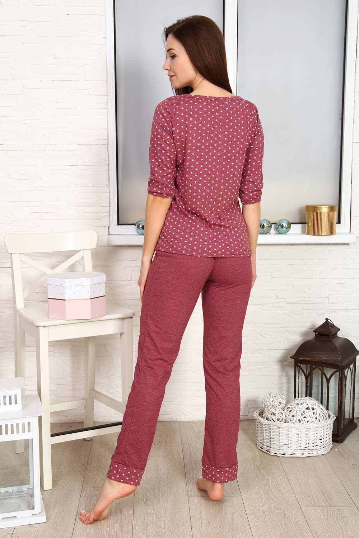 Бордовая домашняя пижама