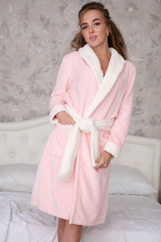 домашний розовый халат