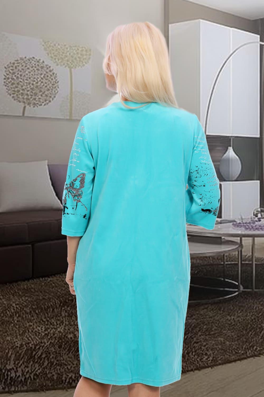 Домашний халат с молнией 7044