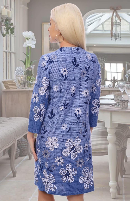 Голубое повседневное платье N3599