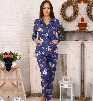 Классическая женская пижама 11519