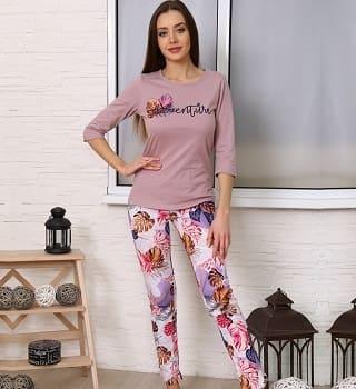 Пижама женская с принтом 6915