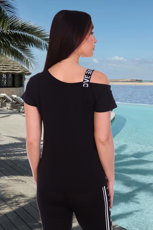 Модная черная футболка N1475