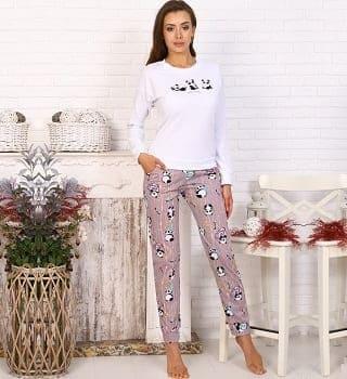 Пижама с долгим  рукавом 20006