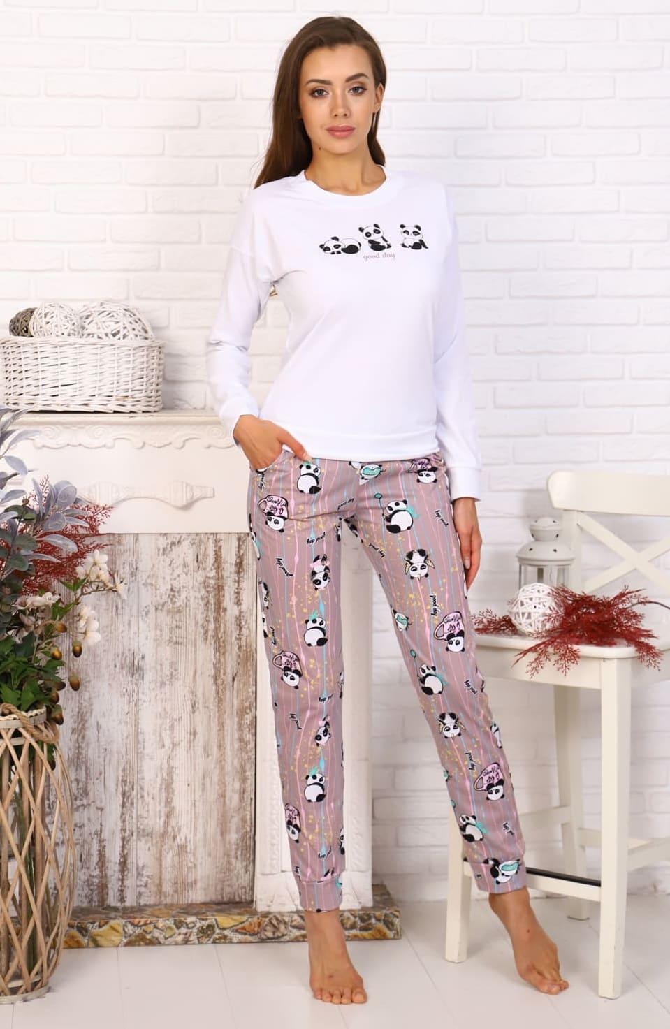 пижама с долгим  рукавом