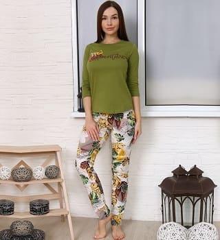 Пижама женская с брюками 6915
