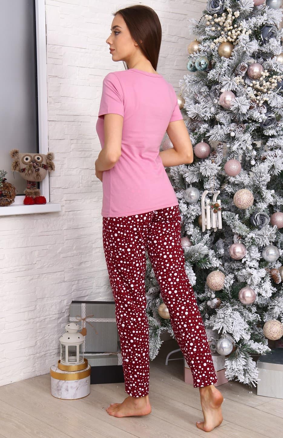 Пижама женская розовая 5954